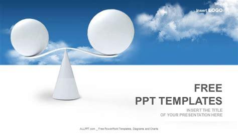 balanza template powerpoint spheres balance business powerpoint templates