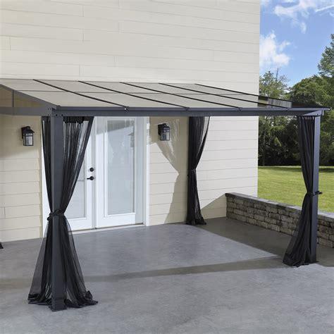 add a room gazebo grand resort 10 x 12 hardtop gazebo with mosquito net