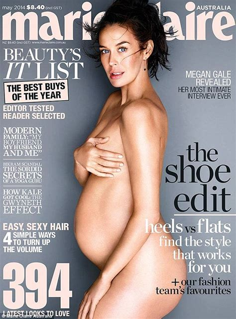 Megan Gale S Marie Claire Nude Pregnancy Shot Wins Magazine Cover Of The Year At The Maggies