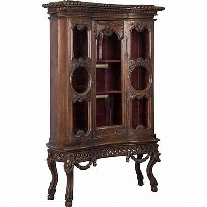 Antique French Century 19th Louis China Cabinet