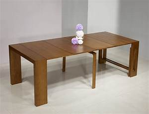 Table Extensible Bois Massif : console extensible en merisier contemporaine 4 allonges meuble en merisier massif ~ Teatrodelosmanantiales.com Idées de Décoration
