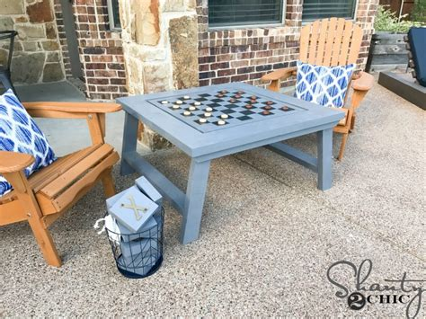 diy outdoor game table shanty  chic