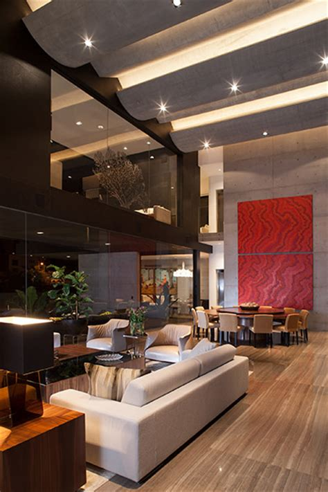 striking contemporary monterrey home  gorgeous double height living room  stunning homes