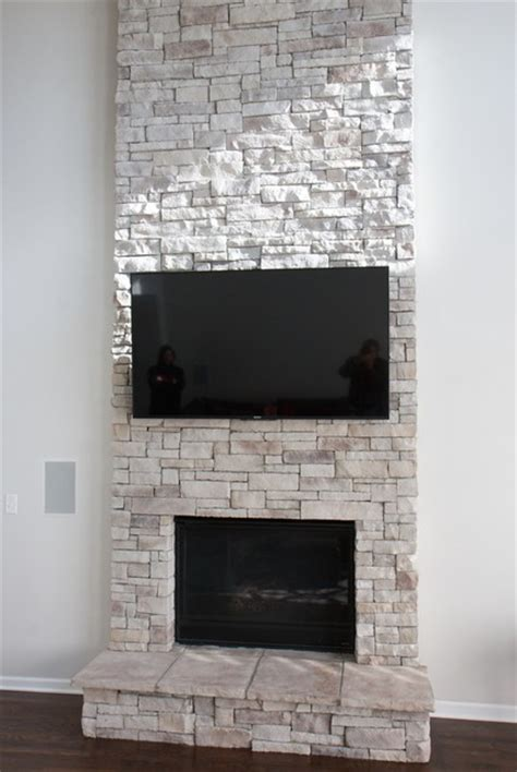 Chicago Fireplace by Stone Fireplace Floor To Ceiling Traditional Living