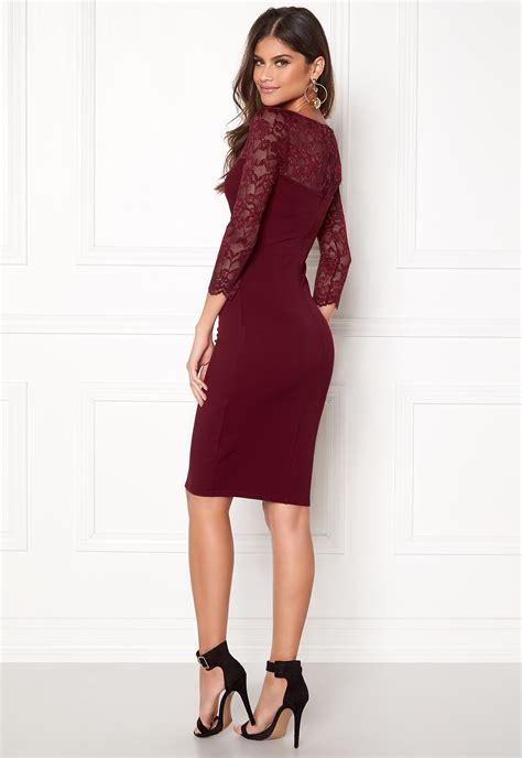 olla midi dress 2 goddiva fitted midi dress wine bubbleroom