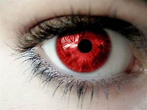 Wallpaper red, eye, Red pupil.