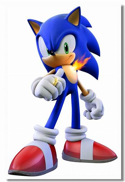 Sonic Hedgehog Poster Rings Stickers Secret Canvas
