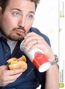 Man Eating Fast Food Stock Image - Image: 2460391