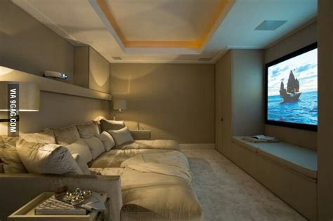 comfy  theatre room ideas   house pinterest