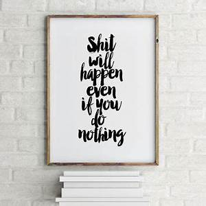 best funny motivational posters products on wanelo With best brand of paint for kitchen cabinets with inspirational quotes canvas wall art