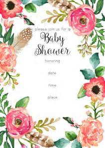 wedding invite template free printable floral shower invitation baby shower