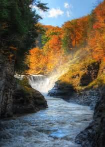Lower Falls Letchworth State Park New York