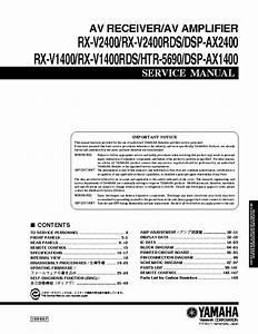 Yamaha Rx V3000 Service Manual