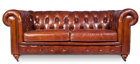 canapé chesterfield cuir vintage canapé 3 places cuir brun vintage chesterfield