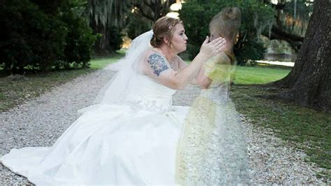 bride  late daughter reunite  viral wedding