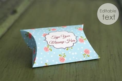 printable gift box templates pillow box