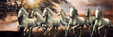 Seven Running Horse Painting In Vaastu  Amit Kaushik