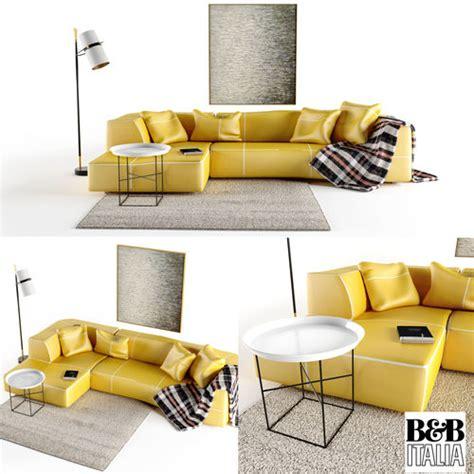 3d Model B And B Italia Bend Sofa
