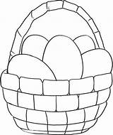 Easter Basket Coloring Pages Printable Empty Egg Simple Print Getcolorings Getdrawings Colorings sketch template