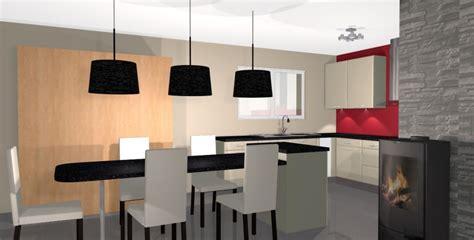 cuisine ouverte sur salon 30m2 déco salle a manger cuisine