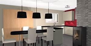 Decoration cuisine avec salle a manger for Deco cuisine avec salle a manger a vendre