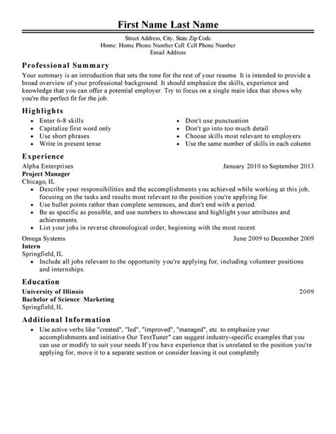 Classic 1 Resume Templates to Impress Any Employer | LiveCareer