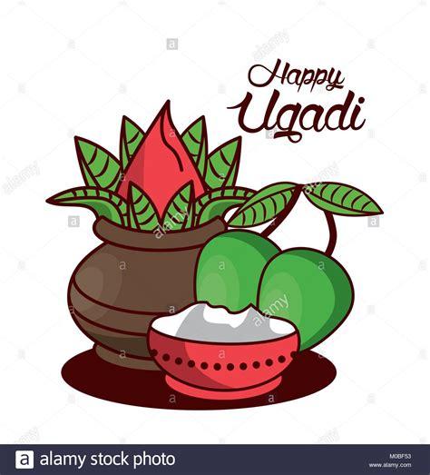 Ugadi Images Happy Ugadi Design Stock Vector Illustration Vector