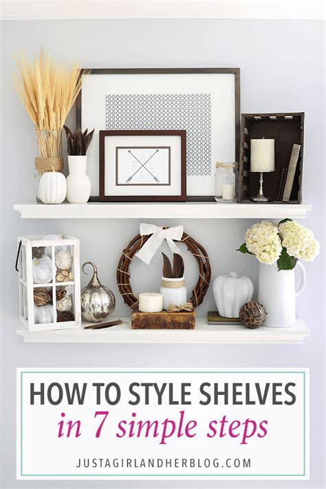 style shelves   simple steps   fall shelf