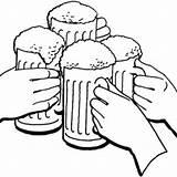 Beer Coloring Drawing Mug Cheers Draw Getdrawings Printable Getcolorings sketch template