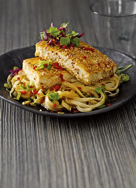 crispy tofu recipe  noodle salad olive magazine