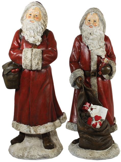 vr69798a 12 quot poly resin santa with gifts