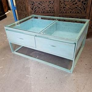 glass top coffee table with drawers nadeau charlotte With coffee table with drawers and glass top