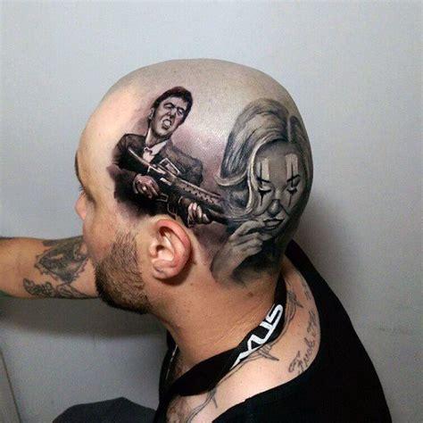 scarface mens head tattoo designs tattoo pinterest