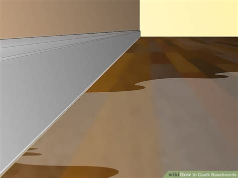 caulk baseboards  pictures wikihow