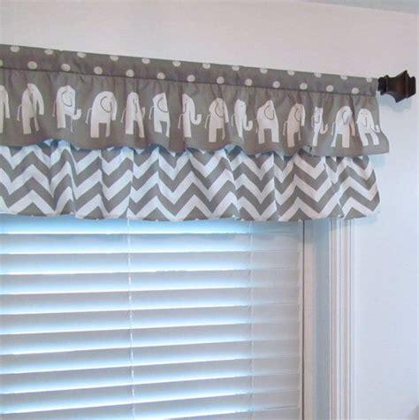 nursery decor  tiered curtain elephant chevron polka