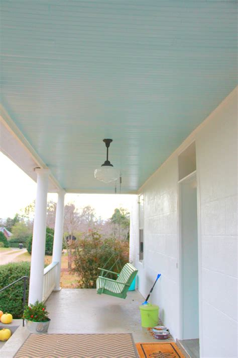 monday makeover quot haint quot porch ceiling blue