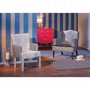 Fauteuil Design Blanc : fauteuil design claudine gris blanc ~ Teatrodelosmanantiales.com Idées de Décoration