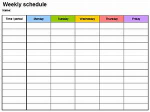 7 Day Week Schedule Template 7 Free Weekly Planner Template Schedule Planners Word