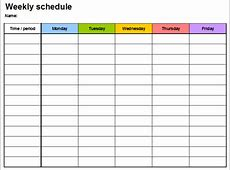 7+ Free Weekly Planner Template & Schedule Planners Word