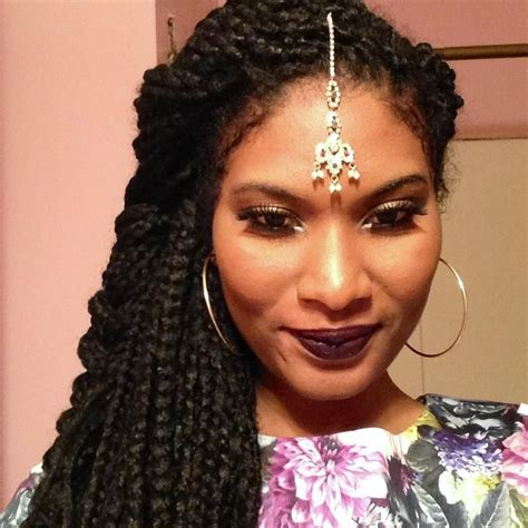 chunky box braids dark lip inspiration pinterest