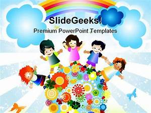 kids diversity globe powerpoint template 0610 With diversity powerpoint templates free