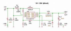 5v To 20v Dc Dc Converter Circuit Mc34063a Usb