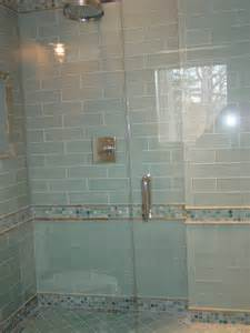 Madison Cabinet by Blue Glass Tile Shower