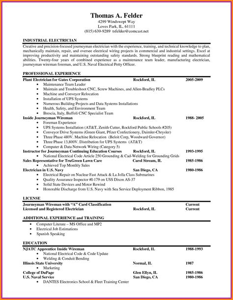 Electrician Resume Templates by 11 Electrician Cv Template Defense