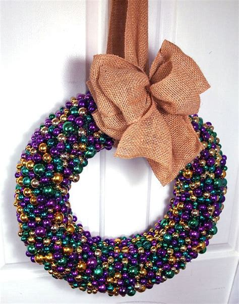 burlap mardi gras door decorations mardi gras beaded door wreath with burlap bow purple
