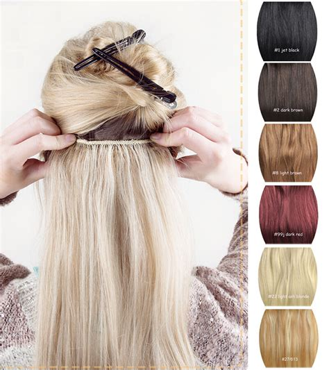 Premium 20 Long Thick Clip In Hair Extensions One Piece