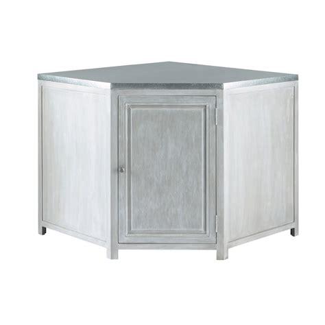 element cuisine angle bas meuble bas d 39 angle de cuisine en bois d 39 acacia gris l 99
