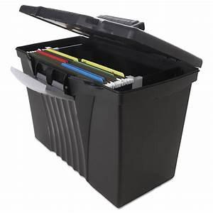 portable file storage box w organizer lid by storex With document organizer box
