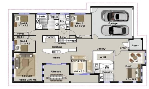 contemporary floor plans for homes 4 bedroom house plans residential house plans 4 bedrooms