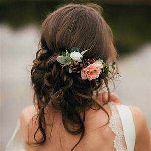 18 Trending Wedding Hairstyles With Flowers Page 3 Of 3